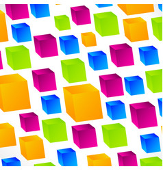 3d abstract square background vector image