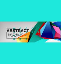 3d polygonal shape geometric background vector image