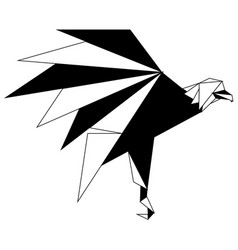 Abstract low poly eagle icon vector