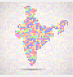 abstract map of india colorful dots vector image