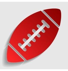 American simple football ball vector image