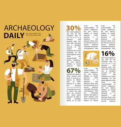 Archaeology infographics vector