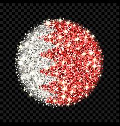 bahrain flag sparkling badge vector image