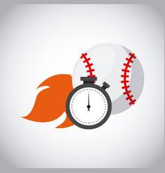 baseball sport design vector image