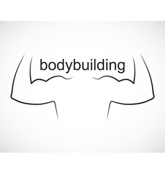 Bodybuilding design and sport icon vector image vector image