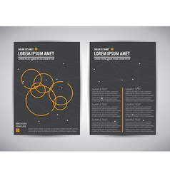 Brochure document template vector