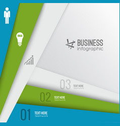 business digital infographic template vector image