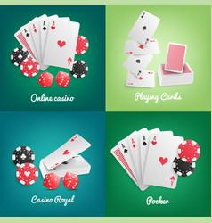 casino online realistic concept vector image