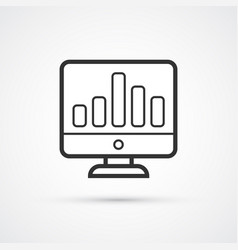 chart presentation flat line trendy black icon vector image