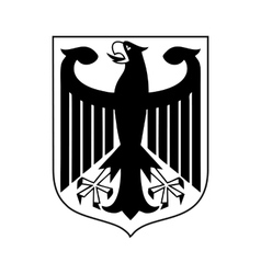 Coat of arms of Germany icon simple style vector image
