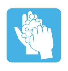 Covid 19 coronavirus prevention wash hands vector