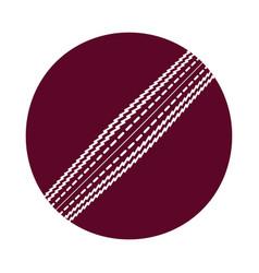 cricket ball icon vector image