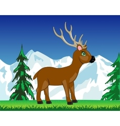 Deer on glade vector