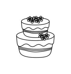Delicious birthday cake vector