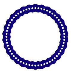 Dotted rosette circular frame template vector