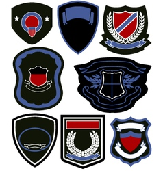 Emblem badge icon set vector