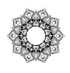 Ethnic mandala design - flower style tracery vector