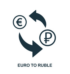 euro to ruble icon mobile app printing web site vector image