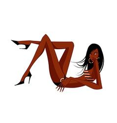 Exotic woman in a bikini vector