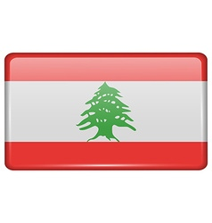 Flags Lebanon in the form of a magnet on vector