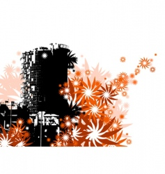 floral city vector image