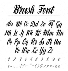 Font - handwriting brush It can be used to create vector