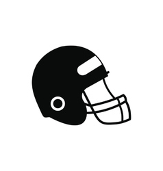 Football helmet with face mask icon vector