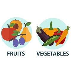 Fruit veggie vector