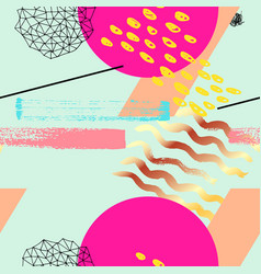 Geometric funky seamless pattern vector