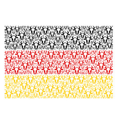 Germany flag mosaic of cow head icons vector