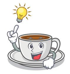 Have an idea coffee character cartoon style vector