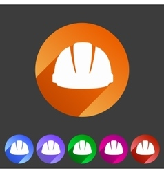 Helmet constrction hard hat icon web sign symbol vector
