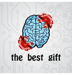 Human brain gift vector