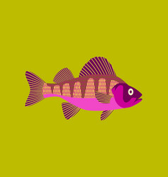 In flat style perch vector