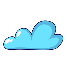 internet cloud icon cartoon style vector image