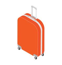 Isometric travel suitcase vector