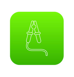 jumper cable icon green vector image