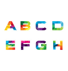 letter logo collection a-h vector image