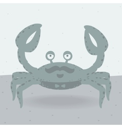 Merry crab on the beach vector
