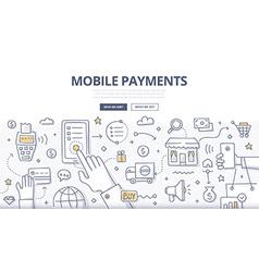 Mobile Payments Doodle Concept vector