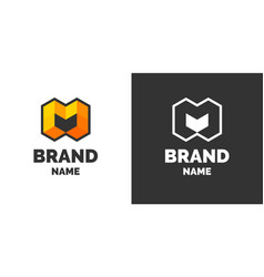 Modern logo and sign the letter m vector