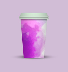 Modern watercolor coffee cup to go vector