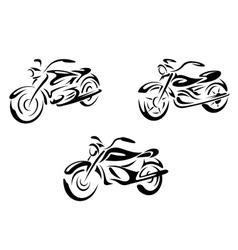 Motorcycles and bikes vector