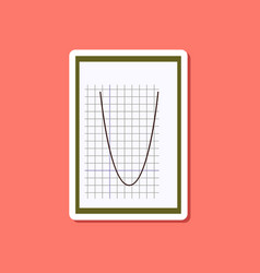 paper sticker on stylish background mathematics vector image