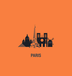 paris principal buildings vector image