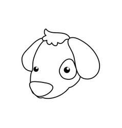 Puppy cartoon drawing head vector