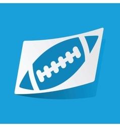 Rugby sticker vector