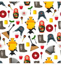 Russia items set souvenirs vector