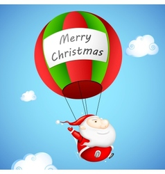 Santa Claus in Parachute vector