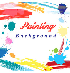 Scenic from brush strokes background vector